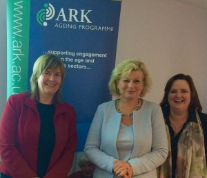 Photograph of Paula Devine, Pearl Dykstra and Gemma Carney, at a seminar on 17 September 2015.