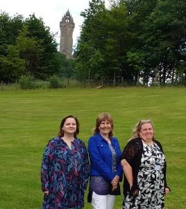 Gemma Carney, Paula Devine and Elizabeth Martin at BSG conference at University of Stirling, July 2016