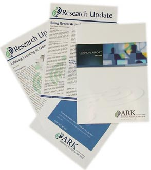 Photograph of ARK publications